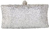 MedzRE-Colory MedzRE Women's Shimmering Sequin Clutch Wedding Prom Party Bag