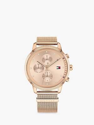 Tommy Hilfiger 1781907 Women's Blake Chronograph Mesh Bracelet Strap Watch, Rose Gold