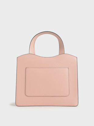 Charles & Keith Front Pocket Double Top Handle Bag