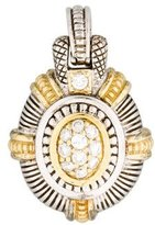 Judith Ripka Two-Tone Diamond Enhancer Pendant