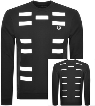 Fred Perry X Made Thought Logo Sweatshirt Black