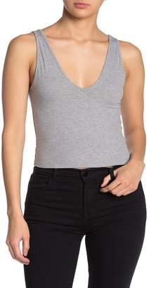 Abound Double V-Neck Ribbed Tank