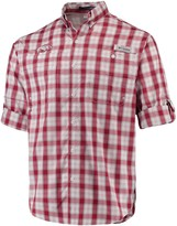 Columbia Unbranded Men's Cardinal Arkansas Razorbacks Plaid Omni-Shade Collegiate Super Tamiami Button-Down Long Sleeve Shirt