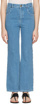 Chloé Blue Scalloped Flared Jeans