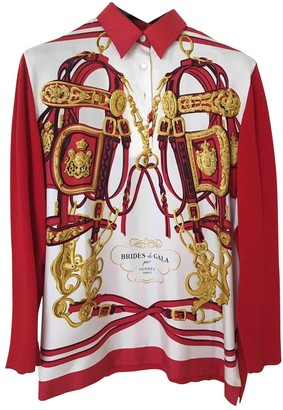 Hermes Red Silk Knitwear for Women Vintage