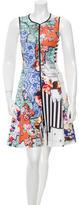Clover Canyon Printed A-Line Mini Dress