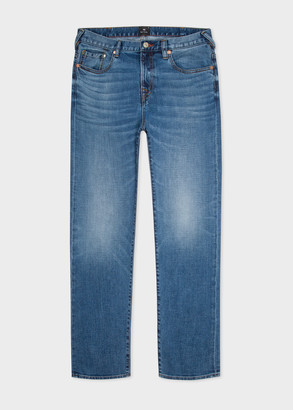 Paul Smith Men's Tapered-Fit Antique-Wash 'Soft Stretch' Jeans