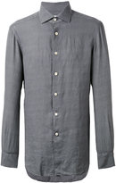 Kiton plain shirt - men - Linen/Flax - 38