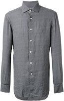 Kiton plain shirt - men - Linen/Flax - 38