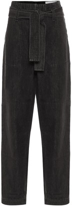 Rag & Bone High-rise relaxed cotton pants
