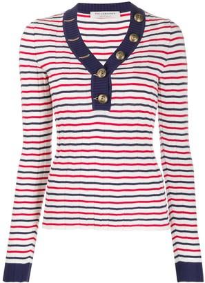 Philosophy di Lorenzo Serafini striped v-neck knitted top
