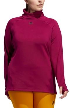 adidas Plus Size Mock-Neck Training T-Shirt