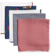 The Tie Bar Men's Trendy Red 5-Pack Pocket Squares