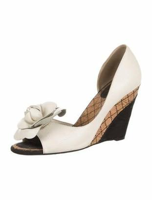 Chanel Camellia Peep-Toe Pumps