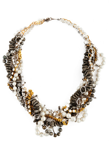 Chan Luu Braided Chain-and-Stone Necklace