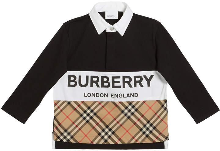 0994acb66b Check Collar Polo Shirt Burberry - ShopStyle