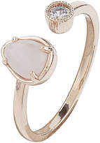 Accessorize Rose Gold Open Stone Ring