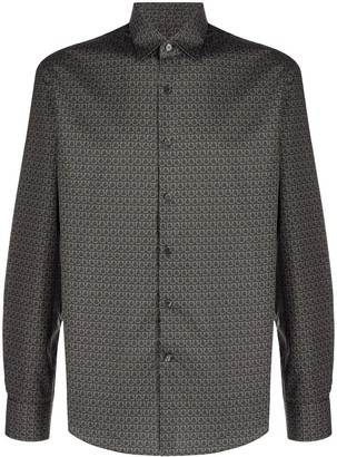Salvatore Ferragamo Gancini button-up shirt
