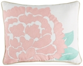 """CLOSEOUT! Martha Stewart Collection Village Peony Crewelwork 16"""" x 20"""" Decorative Pillow"""