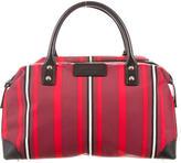 Kate Spade Leather-Trimmed Striped Bag
