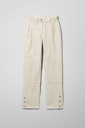 Weekday Fella Biker Denim Trousers - White