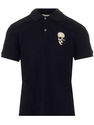 Alexander McQueen Skull Patch Polo Shirt