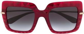 Dolce & Gabbana Eyewear Oversized Square-Frame Sunglasses