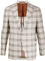 Tagliatore checked single-breasted blazer