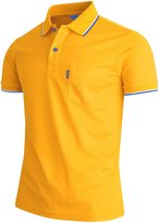 BCPOLO Men's Polo Shirt 1 Chest Pocket Dri Fit Polo Shirt Short Sleeve Various Polo-XL