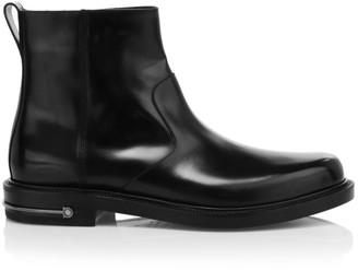 Salvatore Ferragamo Sefton Leather Ankle Boots