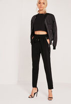 Missguided Piped Formal Joggers Black