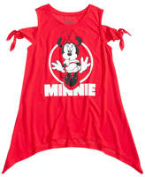 Disney Disney's Minnie Mouse Knot-Shoulder T-Shirt, Big Girls