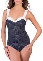 Miraclesuit Pin Point Saxon One-Piece Swimsuit
