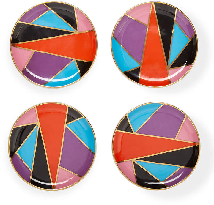 Jonathan Adler Harlequin Coasters - Set of 4 - Multicolour