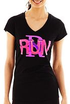 JCPenney XersionTM Breast Cancer Awareness V-Neck Graphic Tee