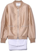 3.1 Phillip Lim Bomber with Cardigan Ribs in Nude