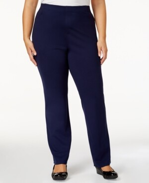 Karen Scott Plus Size Comfort Pants, Created for Macy's