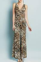 Clara Sunwoo Cheetah V-Neck Jumpsuit