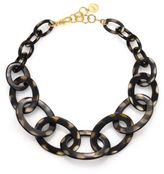 Nest Graduated Spotted Horn Link Necklace