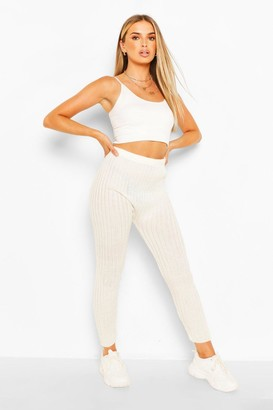 boohoo Rib Knit Leggings