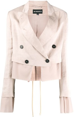 Ann Demeulemeester Cropped Double-Breasted Blazer