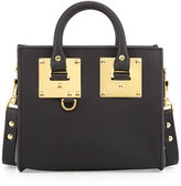 Sophie Hulme Small Leather Box Satchel Bag, Black