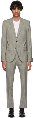 HUGO Blue and Black Check Arti/Hesten Suit
