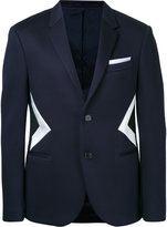 Neil Barrett optical illusion jacket - men - Viscose - 44