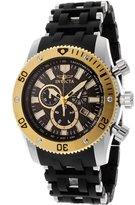 Invicta Men's 13854 Sea Spider Chronograph Black Carbon Fiber Dial Black Polyurethane Watch