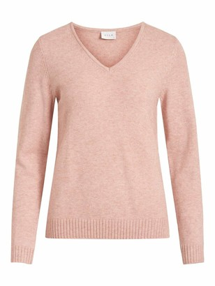 Vila Women's VIRIL V-Neck L/S Knit TOP - NOOS Sweater