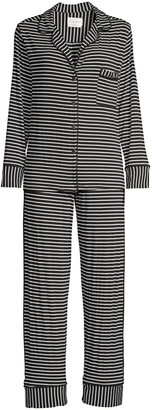 Maison Du Soir Monaco Two-Piece Pajama Set