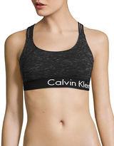 Calvin Klein Performance Crisscross Melange Performance Sports Bra