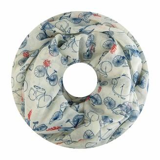 Fashion Max Loop scarf women's scarf tube scarf round scarf neckerchiefs plain colour loop scarf coloured - White -