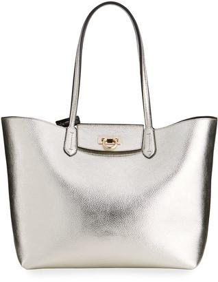 Salvatore Ferragamo Travel Metallic Tote Bag